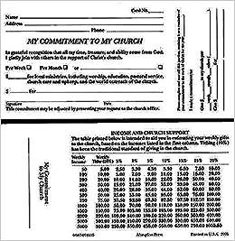 My Commitment To My Church Pledge Card Pkg Of 100 Abingdon
