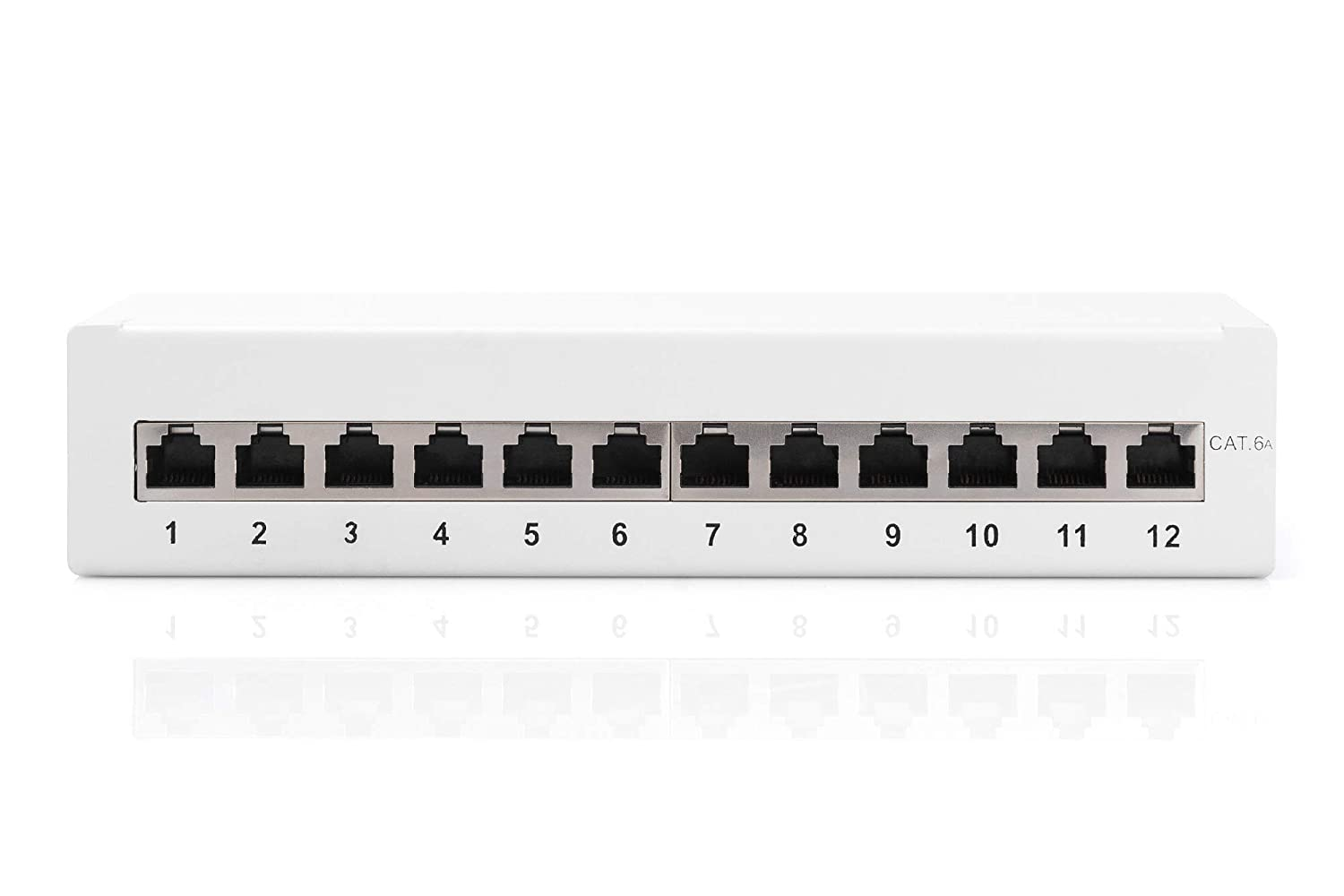Desktop CAT 6A Class EA patch panel shielded grey