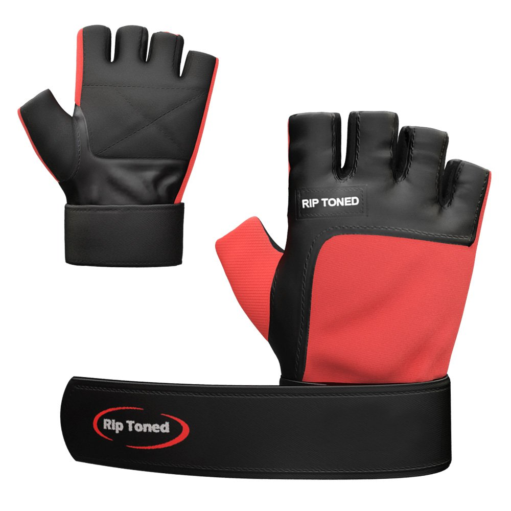 Rip Toned Fitness - Lifting Gloves - Maximize Your Gains & Protect Your Hands - Bonus eBook- Lifetime Replacement Warranty by Rip Toned