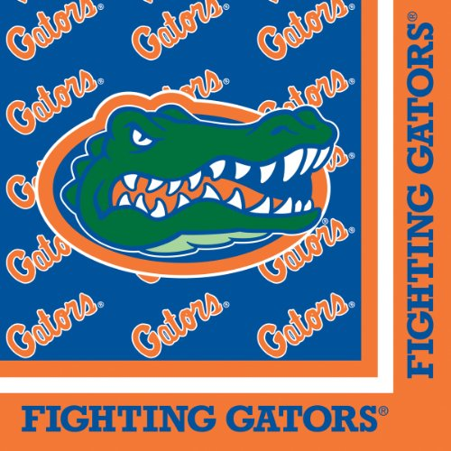 Florida Gator Football Bowl (20-Count Paper Lunch Napkins, Florida Gators)