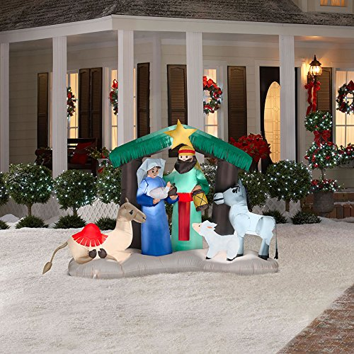 Gemmy 6 Feet Tall Airblown Christmas Nativity Scene Inflatable]()