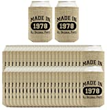 40th Birthday Gift Coolie Made 1978 Can Coolies 96 Pack Can Coolie Drink Coolers Coolies Burlap