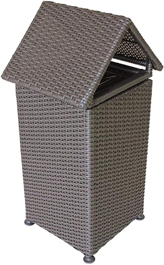 Cubos de Basura para Exterior Basura de ratán de plástico Grande al Aire Libre Parque de la Propiedad comunitaria Jardín Hotel Gran Basura Creativa Basura y Reciclaje Cubos de Basura para Exterior: