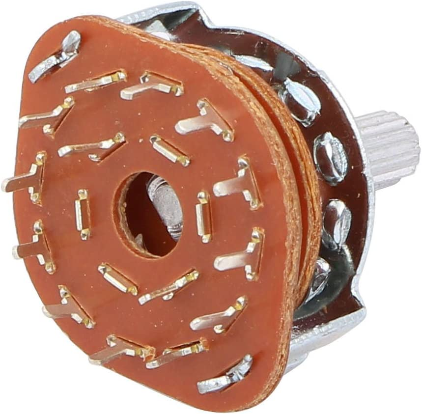 uxcell/® 3 Pcs 6mm Dia Shaft 2P6T 2 Pole 6 Position Band Channel Selector Rotary Switch