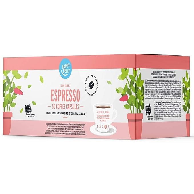 Marca Amazon - Happy Belly Espresso Café UTZ molido de tueste ...