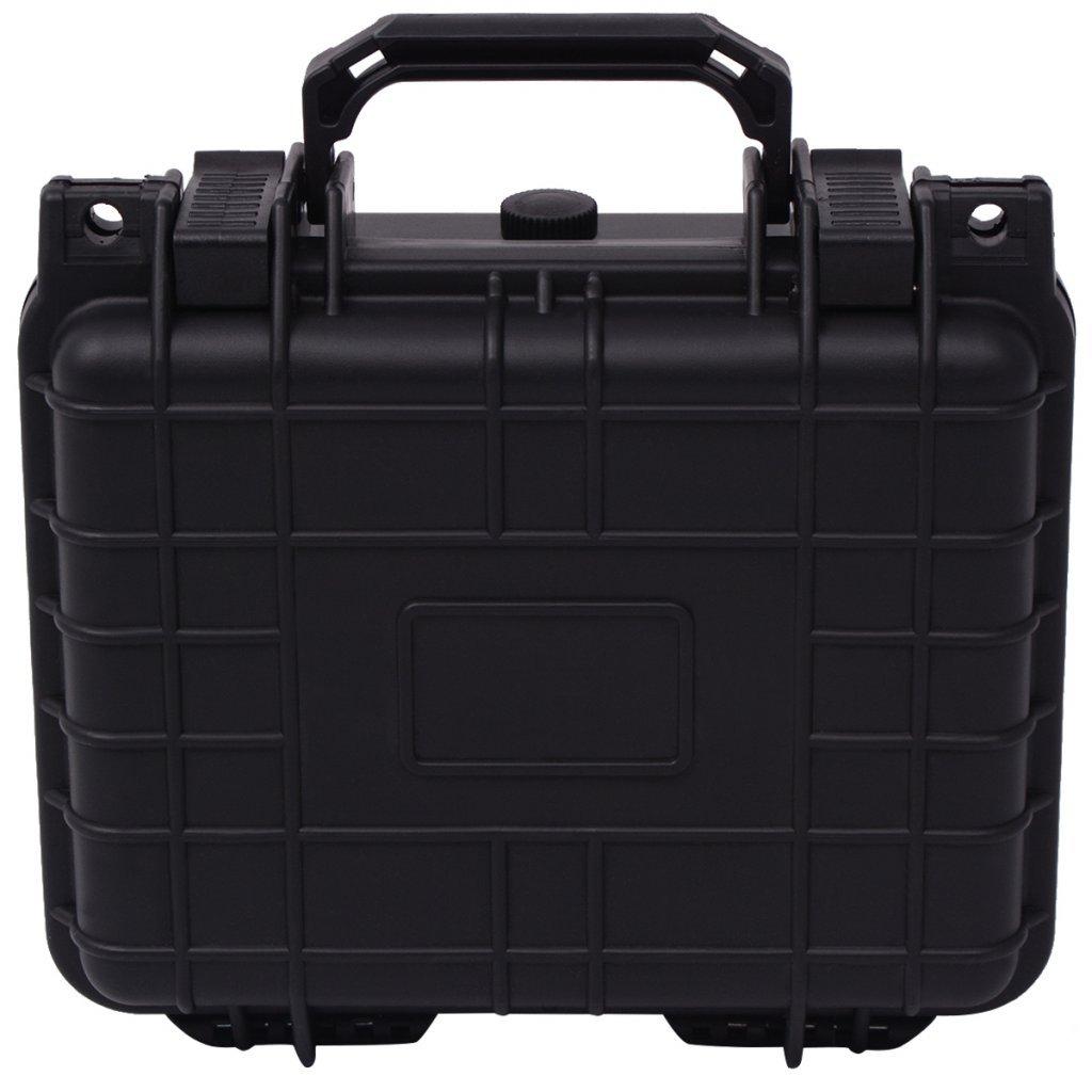 Festnight Valise /à Outil Bo/îte de Protection pour Equipement 27x24,6x12,4cm Noir