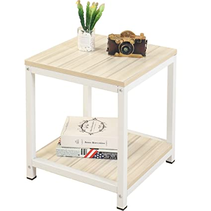 Tremendous Soges Coffee Table Side Table End Table Sofa Table For Home Office White Maple Cs Tvst 40 Mp Uwap Interior Chair Design Uwaporg