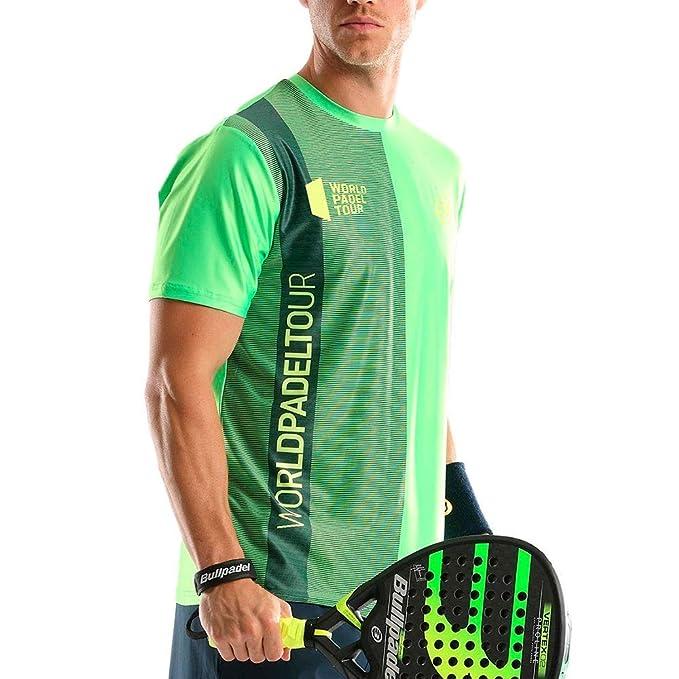 Bullpadel Camiseta TUGO Verde Fluor: Amazon.es: Deportes y aire libre