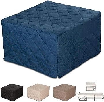 EvergreenWeb – Puf cama individual con colchón, 10 cm de altura - Suite, Varios colores – Cama individual ahorra espacio – Puff reposapiés – ...