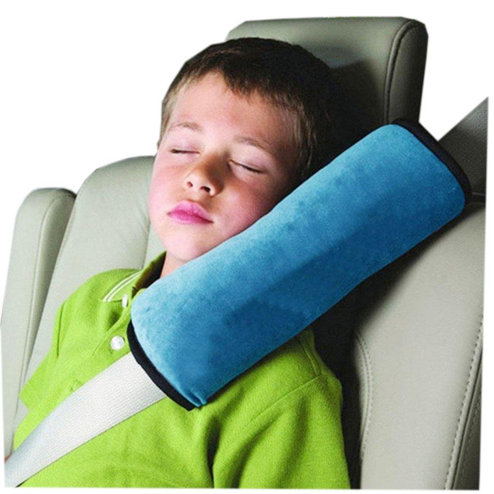 Auto Seat Gürtel kissen Schlafkissen Nackenstütze für Kinder Auto Baby Kind Sicherheitsgurt Autositz Kopfkissen Gürtel Pillow Schulterschutz (Blau) Demarkt