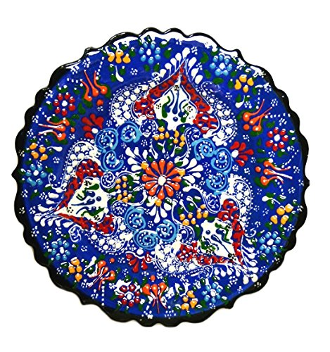 Turkish Ceramics~Hand Painted Ceramic Plate-7 inch-navy
