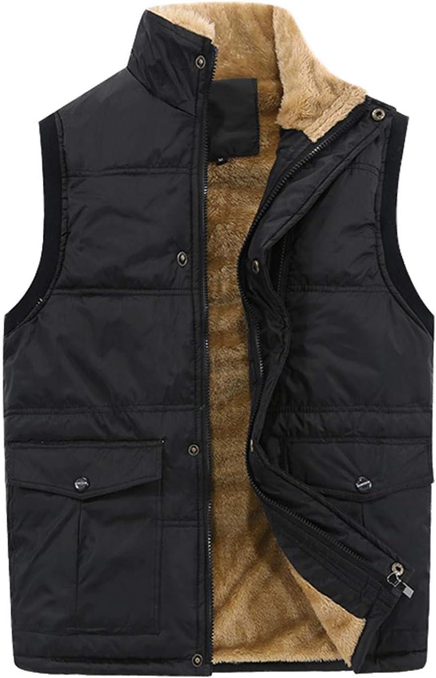 Men/'s Padded Gilet Vest Body Warmer WaistCoat Quilted Winter Warm Waist Coat UK