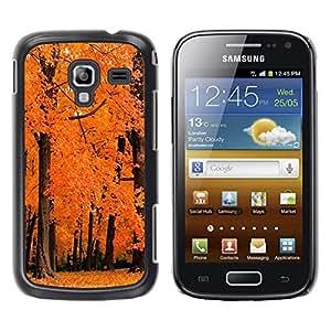 TopCaseStore / la caja del caucho duro de la cubierta de protección de la piel - Nature Orange Woods - Samsung Galaxy Ace 2 I8160 Ace II X S7560M