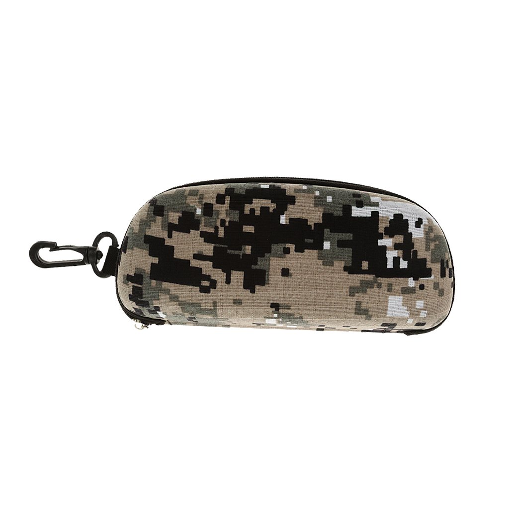 Shockproof Glasses Box Sunglasses Pouch Case with Hook Camouflage