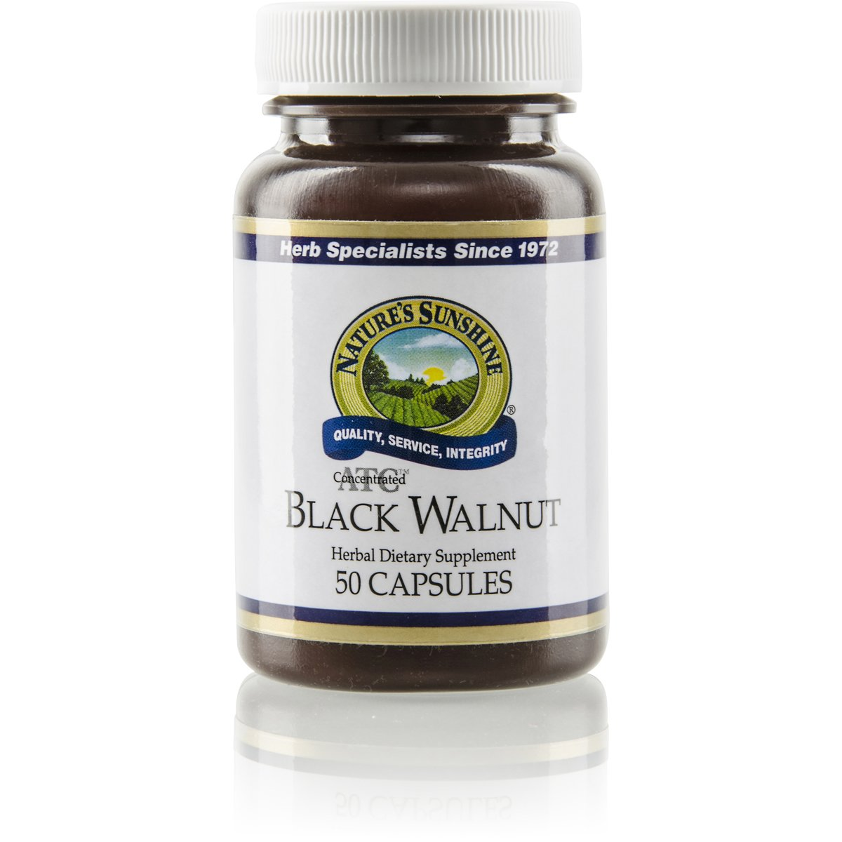 Nature s Sunshine Black Walnut, ATC Concentrate, 50 Capsules Helps Maintain The Intestinal System, Soothes Irritated Tissues, and Supports The Immune System