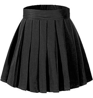691ad0f52 Beautifulfashionlife Women's High Waisted Pleated Mini Skirt A-line Shorts  with Elastic Wide Waistband