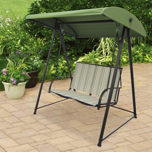2 Person Patio Swing. Patio Swings Is a Welcomed Addition to Any Backyard or Porch. This 2 Person Canopy Swing Will Enhance Your Patio Furniture or Outdoor Furniture Collection. You're Guaranteed to Enjoy the Summertime with This Patio Swing.
