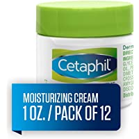 Cetaphil Moisturizing Cream for Very Dry, Sensitive Skin, Extra Strength, Fragrance Free, 1 oz. (Pack of 12)