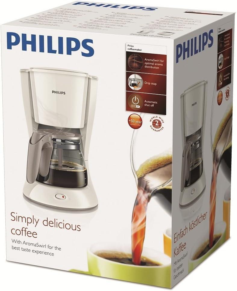 Philips HD7461 - Cafetera de goteo, 1000 W, 1.2 l, color blanco ...