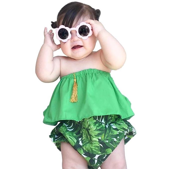 Amazon.com: Chinatera bebé niña verano traje de baño, bebé ...