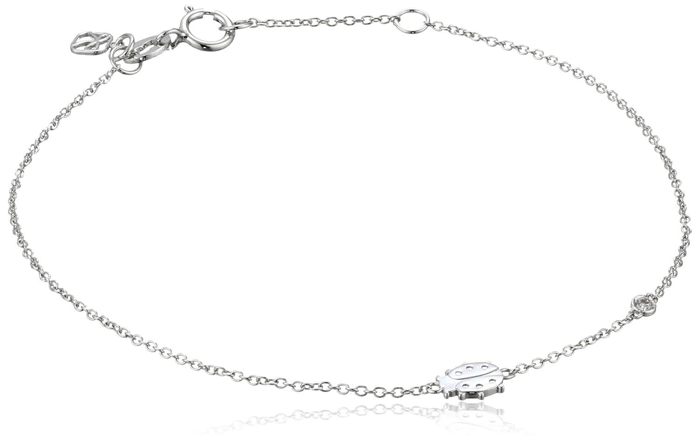 Shy by SE Lady Bug Bracelet with Diamond Bezel