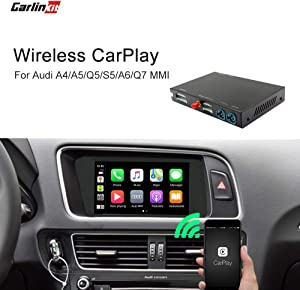 Carlinkit Wireless Carplay Module Receiver Box for Audi A4 A5 Q5 S5(2010-2017)/A6(2009-2011)/Q7(2012-2015) carplay retrofit Accessories,Support Wireless mirroring,Reverse Track,Android auto