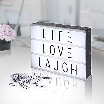 AGM Caja de luz LED para decoración personalizada con letras y ...