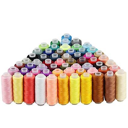 Hilos Maquina Coser(60 Colores), JTDEAL Hilo de Coser para A Mano o a