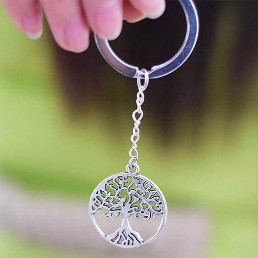 Llavero, diseño de árbol de la vida, Árbol de la vida, con llavero, Mimi llavero, llavero de regalo de día, regalo único de llavero personalizado