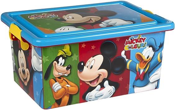 ColorBaby - Caja ordenación 13 litros, diseño Mickey Mouse (76607 ...