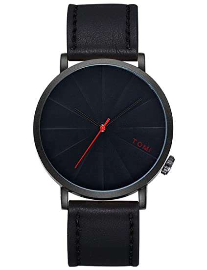 Mens relojes de cuarzo Cooki Remoción Retro analógico relojes baratos en venta de piel Para Muñeca relojes para men-a256: Amazon.es: Relojes