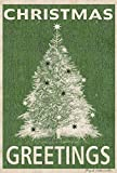Toland Home Garden Christmas Greetings 28 x 40 Inch Decorative Festive Green Holiday Tree House Flag