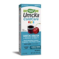 Deals on Natures Way Umcka ColdCare Kids Cherry Syrup 4 FL Ounce