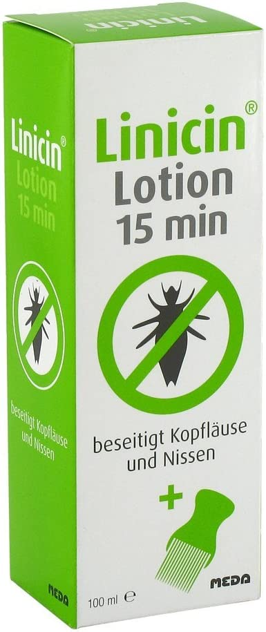 Linicin Lotion 15 min mit Läusekamm, 100 ml Loción: Amazon.es ...