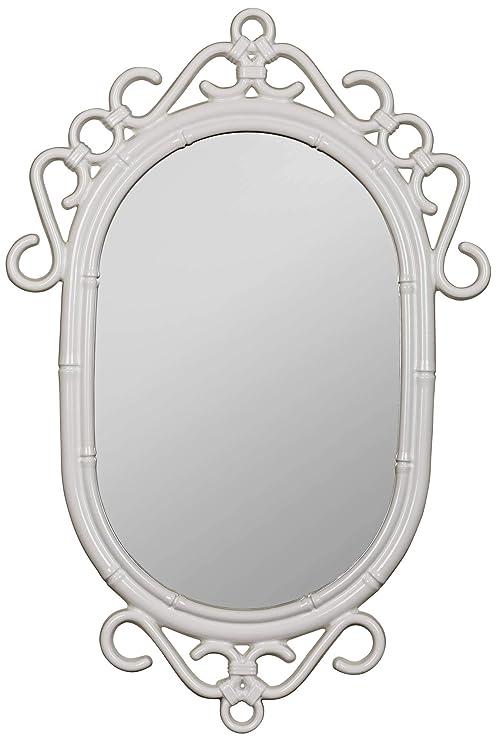 Amazon.com: regeant brillante espejo de pared blanco 24