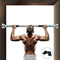 Pull Up Bar for Doorway, Chin Up Bar No Screws Installation, Door Frame Pull Up Bar Upper Body Workout Bar with…