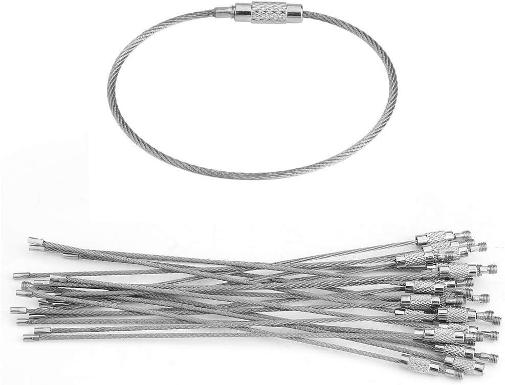 Tag Cercle Boucle Porte-fil de câble EDC Porte Clé Porte cle Corde Vis Serrure