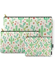 Society6 Watercolor Cacti Carry-All Pouch