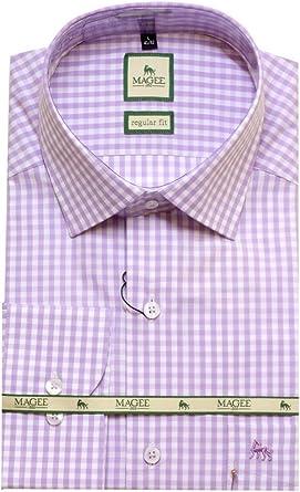 Magee - Camisa formal - para hombre Morado lila: Amazon.es ...