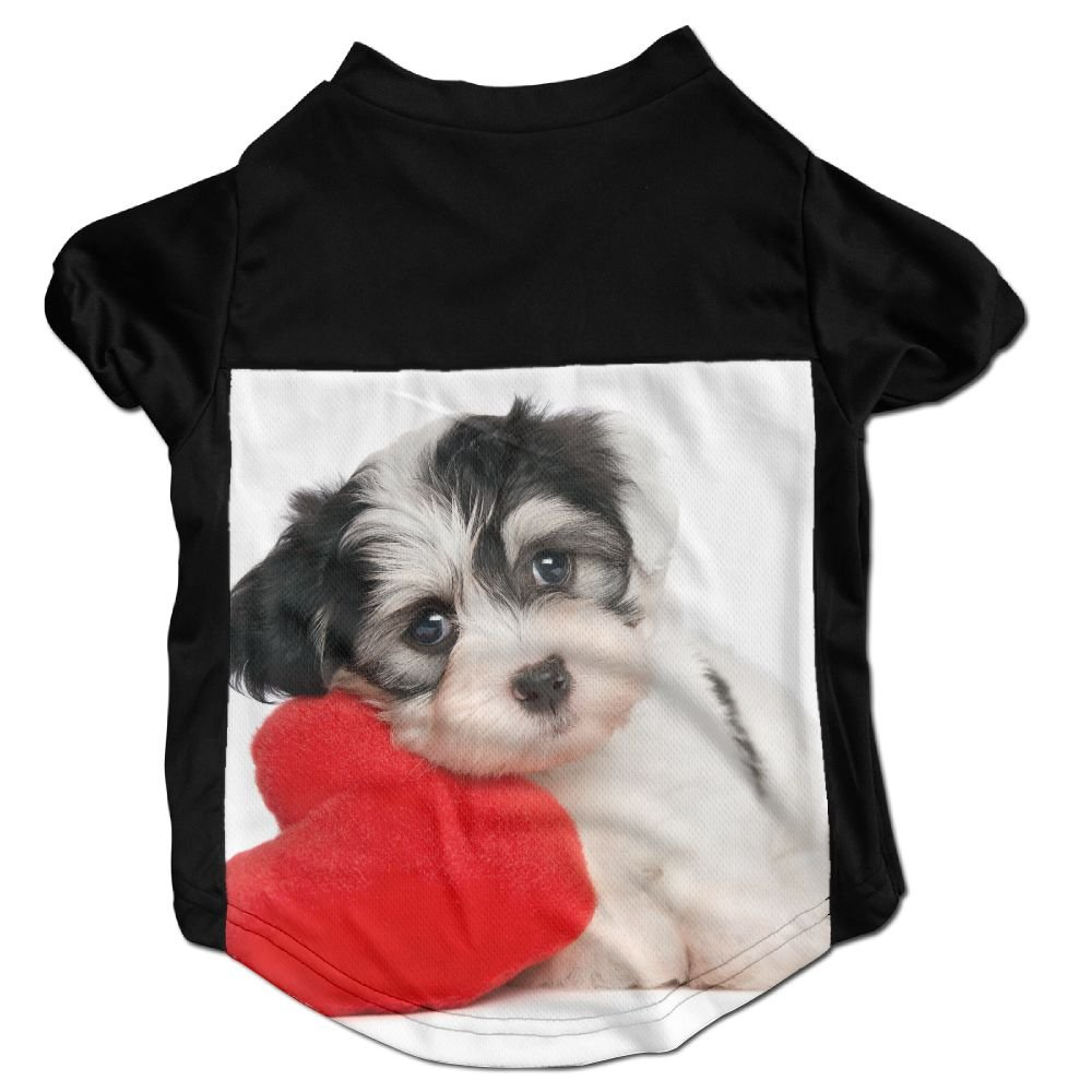 Richard Lyons Fashion Sleeveless Pet Supplies Dog Cat Clothes A Cute Lover Valentine Havanese Puppy Dog Pet Apparel Clothing M Black
