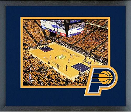 "Bankers Life Fieldhouse Indiana Pacers NBA Stadium Photo (Size: 13"" x 16"") Framed"