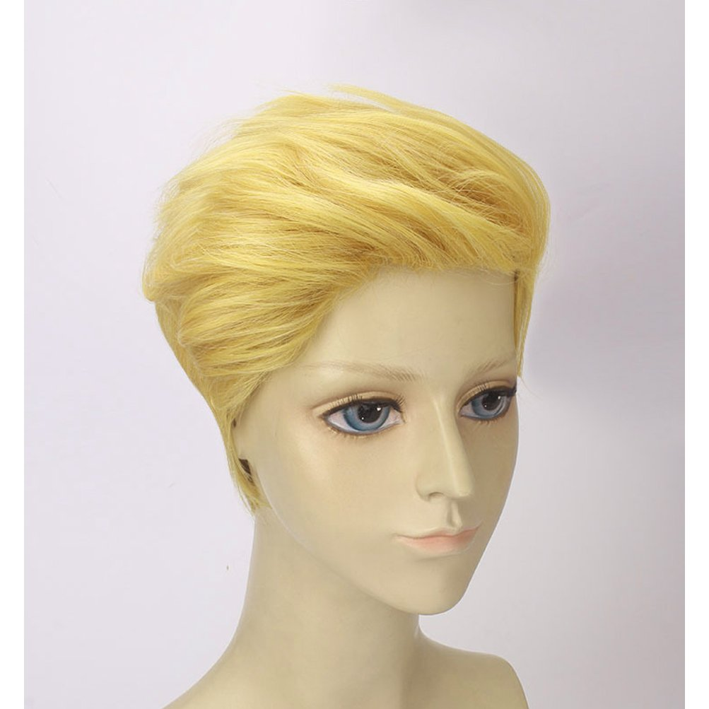 BERON Men Boys Short Blonde Cosplay Wigs-Rose Intranet by BERON (Image #3)