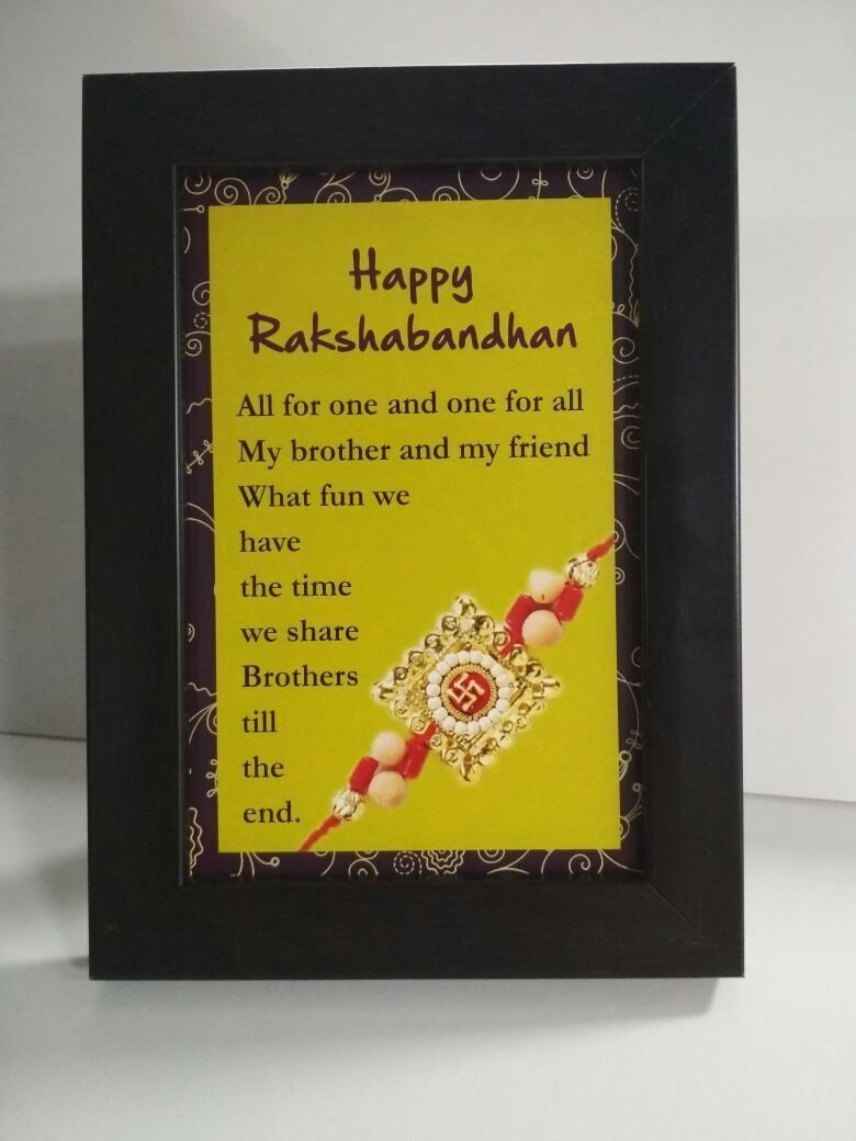 Buy Printelligent Rakhi Gift For Sister Gift For Raksha Bandhan Quote 6 In X 4 In Photo Frames Multicolor Online At Low Prices In India Amazon In