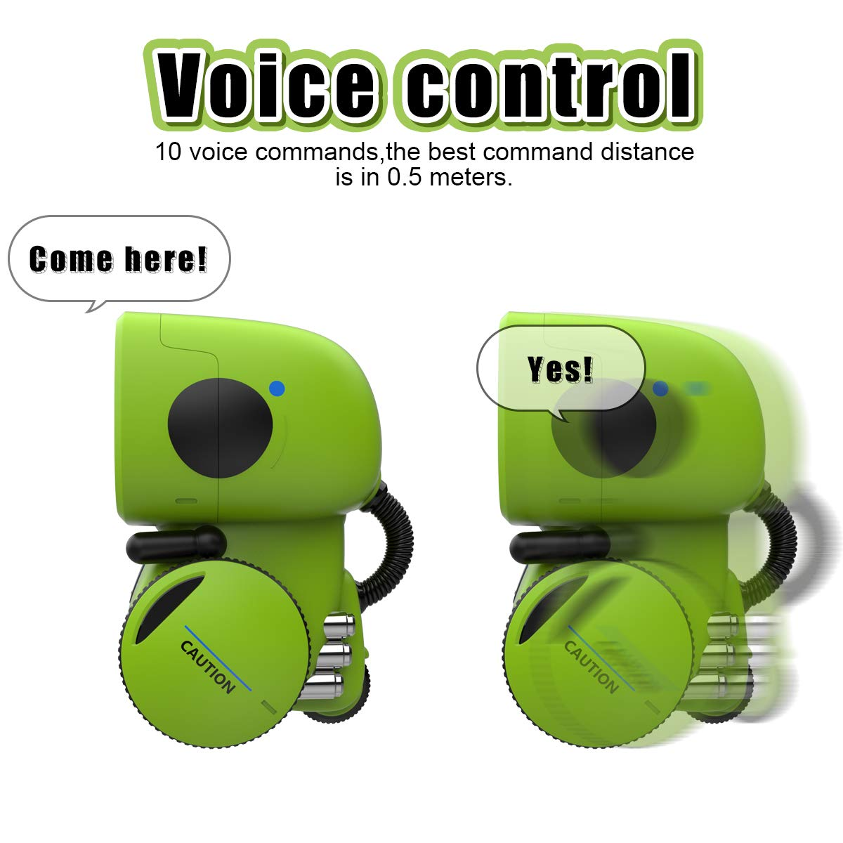 Gilobaby Kids Robot Toy, Talking Interactive Voice Controlled Touch Sensor Smart Robotics with Singing, Dancing, Repeating, Speech Recognition and Voice Recording, Gift for Kids Age 3+ (Green) by GILOBABY (Image #3)