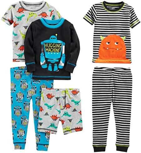 Simple Joys by Carter's Baby Boys' 6-Piece Snug Fit Cotton Pajama Set