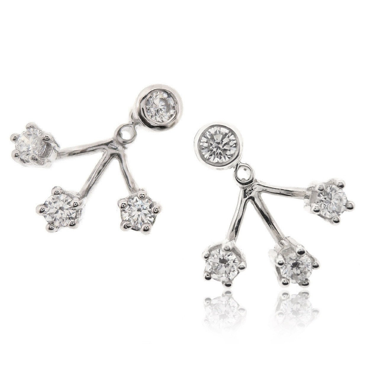 Sovats Woman Gift Two Way Earrings''CZ'' by SOVATS
