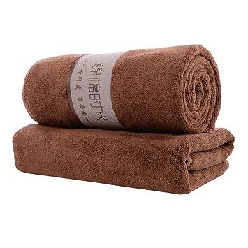 Lote de 5 toallas microfibra Toallas de baño, de 75 x 35 cm toalla absorbente 18 colores, microfibra, café, 34_x_75_cm: Amazon.es: Hogar