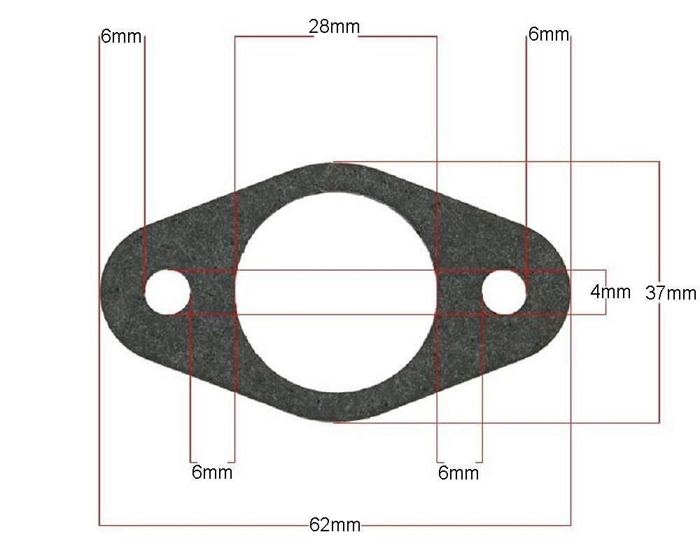 Auspuffdichtung oval - Explorer (A.T.U)-Explorer Spin GE50 2EXTREME 2080010