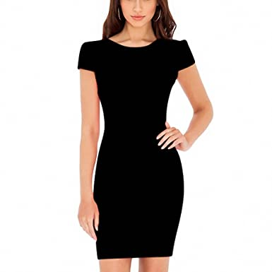 NEW Spring Summer Women Dress Office Dress Short Sleeve Bandage Robes Bodycon Vestidos Pencil Dress Black