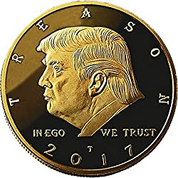 Not My President - Original 24kt Gold Plated Anti Trump Gag Gifts Coin, Stand and Case - The Coin Says it all - Perfect Anti Donald Trump Gag Gifts Novelty For The Trump Hater In your Life by Xanadeu